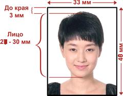 Фото на визу в Китай